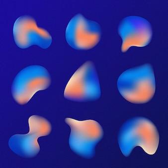 Gradientowy zestaw ziarnistych kształtów