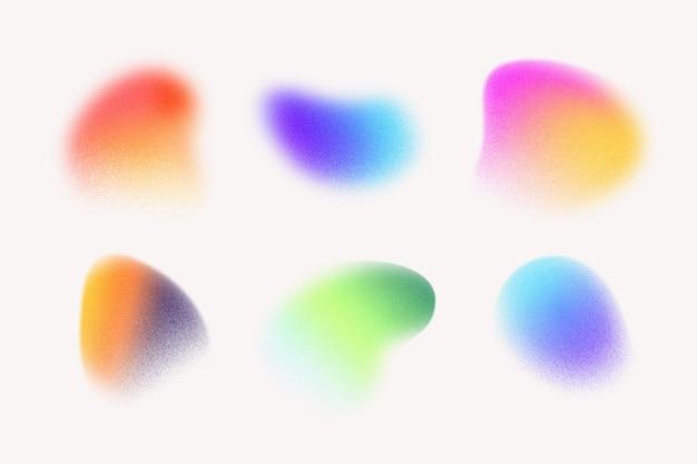 Gradientowy ziarnisty zestaw kształtów gradientu