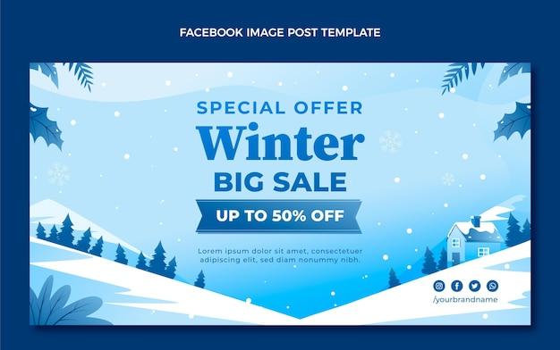 Gradientowy zimowy szablon postu w mediach społecznościowych