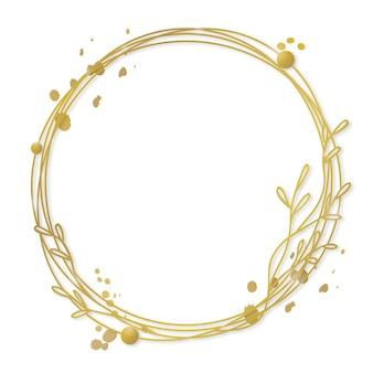 Gradientowy złoty luksusowy szablon ramki