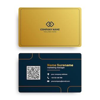 Gradientowy złoty luksusowy szablon wizytówki