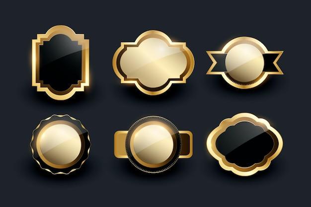 Gradientowy złoty luksusowy zestaw ramek