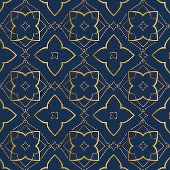 Gradientowy złoty wzór arabski