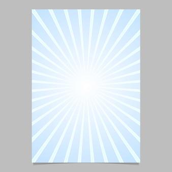 Gradientu abstrakcyjna ray burst projektu ulotka szablonu - wektor dokumentu tła graficzne z promieniami promieni