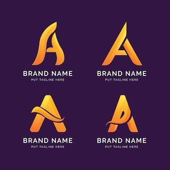 Gradientuj zestaw szablonów logo