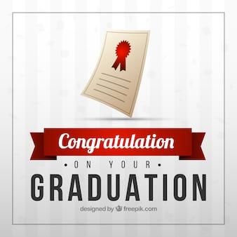 Graduation diploma background