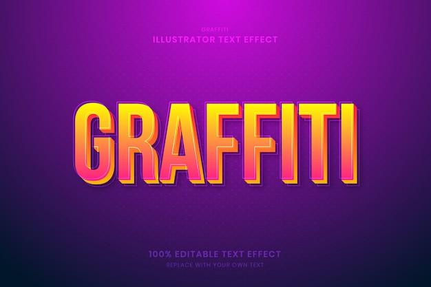 Graffiti 100% edytowalny efekt tekstowy