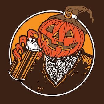 Graffiti bomber pumpkin halloween