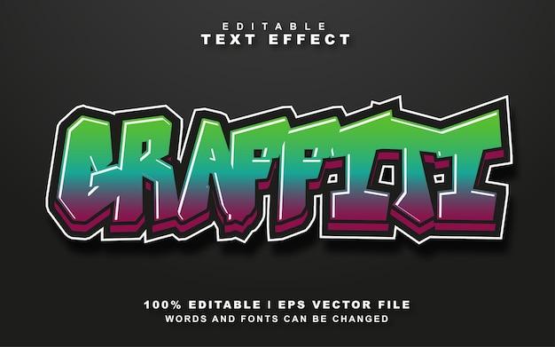 Graffiti efekt stylu tekstu darmowy wektor