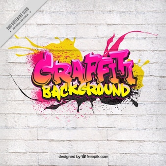 Graffiti na białej ścianie