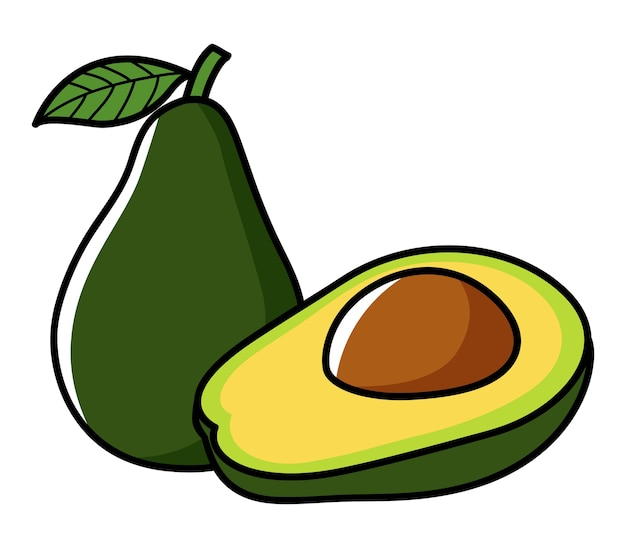 Graficzna ilustracja avocado