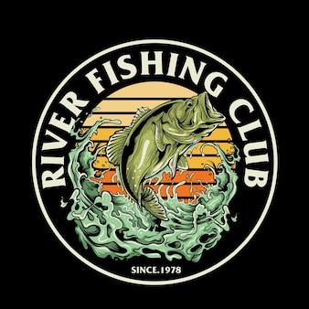 Graficzna ilustracja klubu wędkarskiego