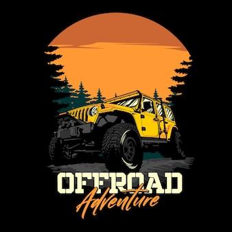 Graficzna ilustracja offroad adventure