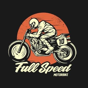 Graficzna koszulka motocyklowa retro