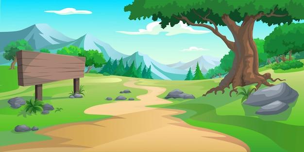 Graficzne drzewo i wzgórze