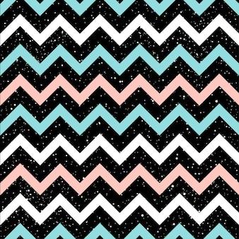 Graficzne linie zygzakowate bezszwowe tło wzór