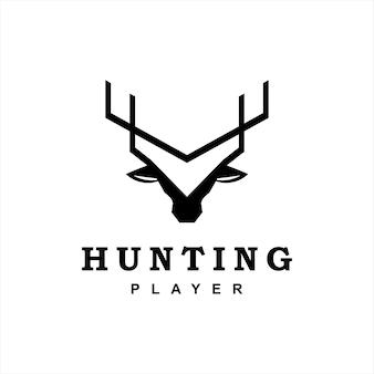 Graficzne logo zwierząt poroża jelenia