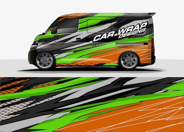 Graficzne tło van. abstrakcyjne nowoczesne linie projektowania koncepcji grafiki samochodowej i pojazdów winylowych