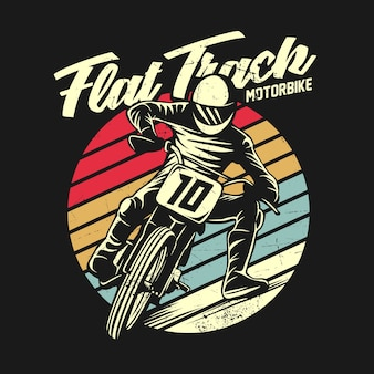 Graficzny ilustracja koszulka retro motocykl motocykl