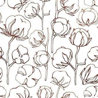 Graficzny wzór bawełny