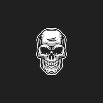Grafika czaszki