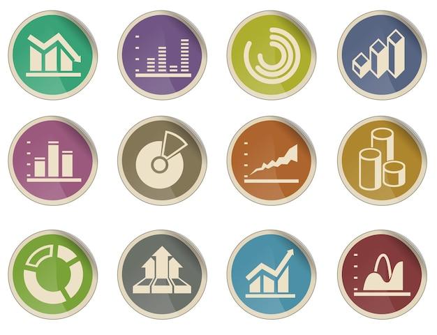 Grafika informacyjna. po prostu symbol ikon internetowych