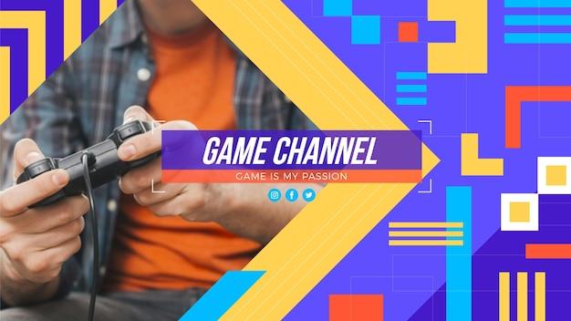 Grafika kanału youtube poświęcona grom geometrycznym