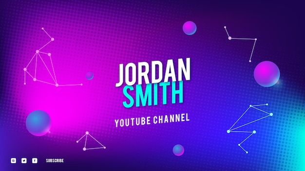 Grafika kanału youtube w technologii półtonów gradientu