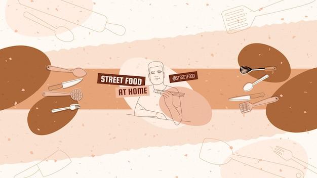 Grafika kanału youtube z ekologicznymi przepisami na proste dania