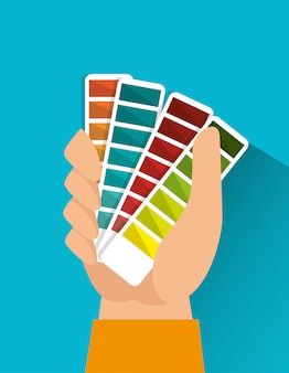 Grafika kolorów pantone
