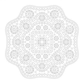 Grafika liniowa dla kolorowanka z abstrakcyjnym wzorem