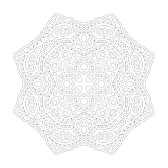 Grafika liniowa dla kolorowanka z wschodnim wzorem