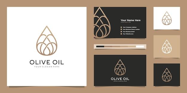Grafika liniowa kropelek oliwy z oliwek, symbole salonów kosmetycznych, produktów do pielęgnacji skóry, kosmetyków, jogi i spa