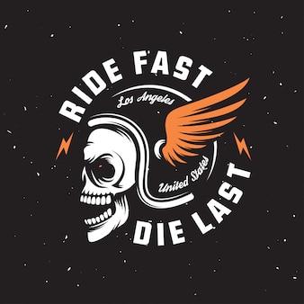 Grafika motocyklowa w stylu vintage