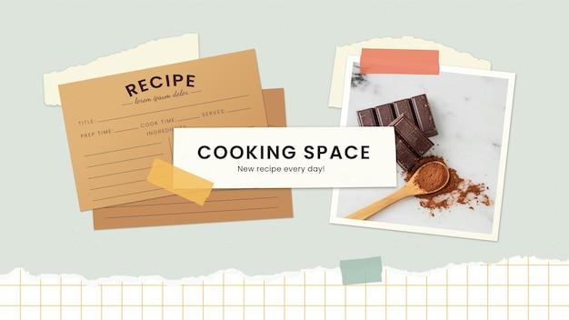 Grafika na kanale youtube z dawnymi przepisami kulinarnymi