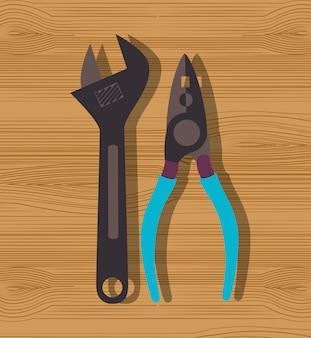 Grafika narzędzi do naprawy konstrukcji