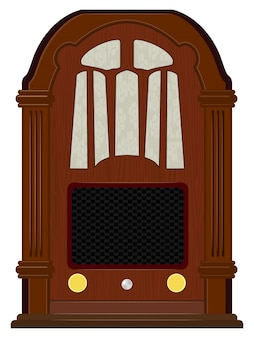 Grafika starego radia