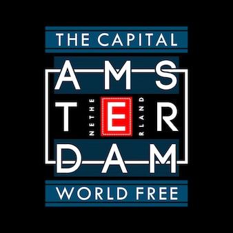 Grafika światowa wolność t-shirt kapitału