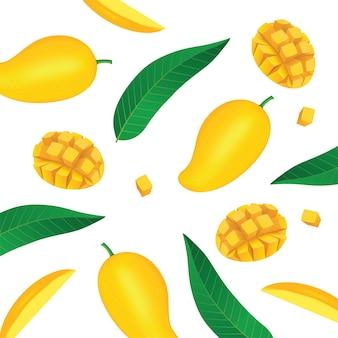 Grafika świeżych owoców mango