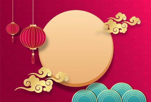 Grafika tła na chiński festiwal