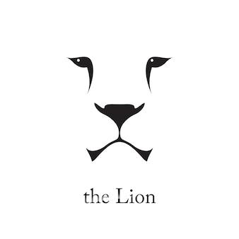 Grafika wektorowa głowy lwa.