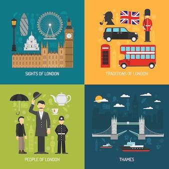 Grafika wektorowa koncepcji londynu