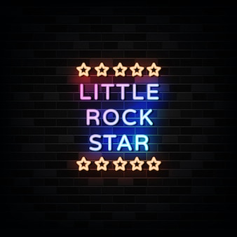 Grafika wektorowa: little rock star neon signs design