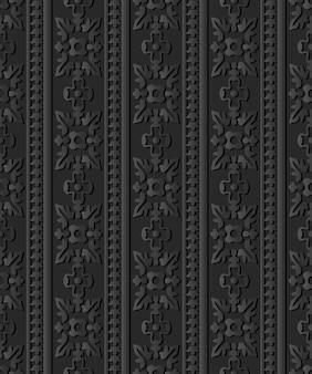Grafika z ciemnego papieru krzywa krzywa okrągła linia ramki kwiatowej liści