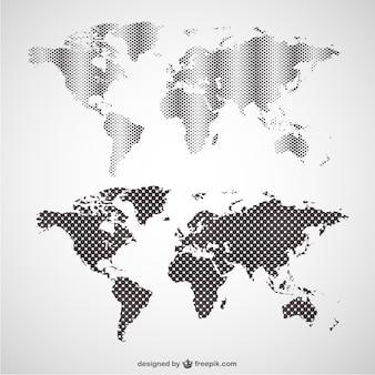 Grafiki wektorowe mapy świata