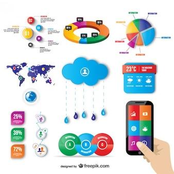 Grafiki wektorowej elementy internetowych