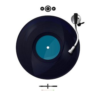 Gramofon wektorowy