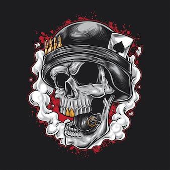 Granat wojskowy czaszki