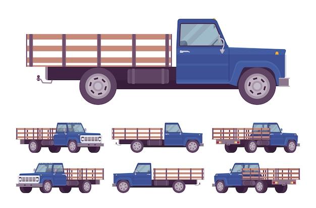 Granatowa pusta ciężarówka