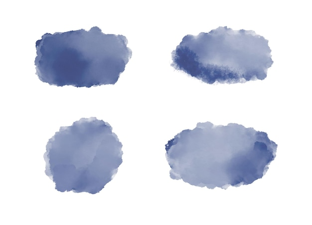 Granatowe plamy akwarelowe pociągnięcia pędzlem na zaproszenia na banery w mediach społecznościowych